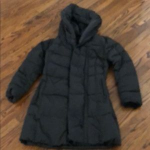 Silky Puffer Coat in Black by Nanette Laporte